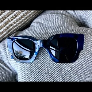 Karen Walker Blue Marble Sunglasses
